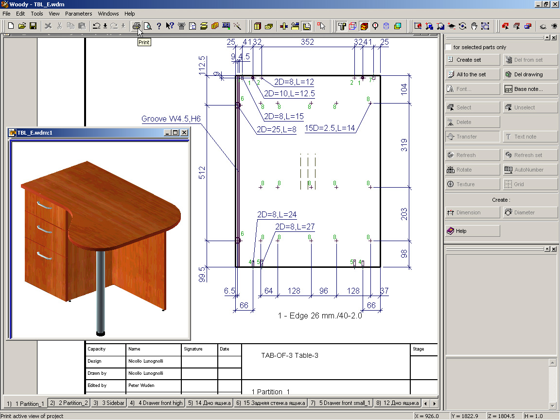 Furniture plans software design
