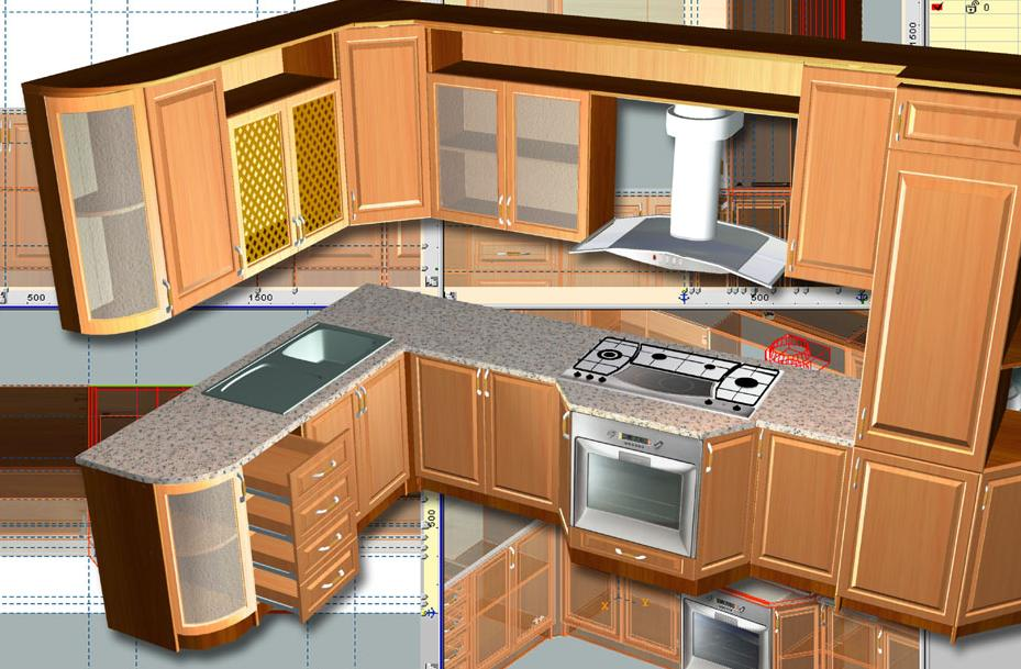 Woody 2 0 advanced cadd for the furniture design for Software cocinas 3d